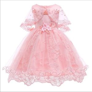 Other - New Girl Princess pearl flower pink dress Sz 3T